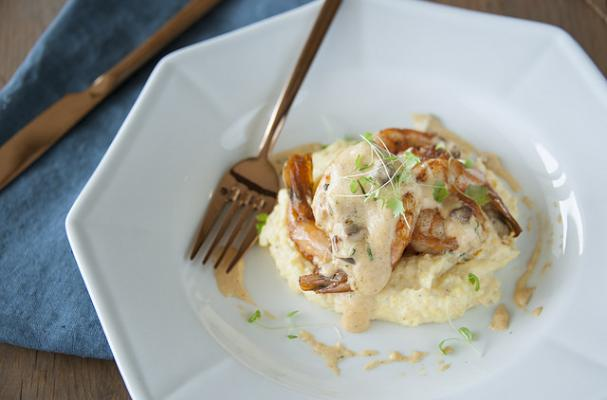 Foodista | Kentucky Derby Shrimp and Smoked Grits with Tasso Gravy
