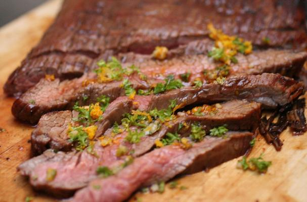 Marinated Flank Steak with Orange Gremolata