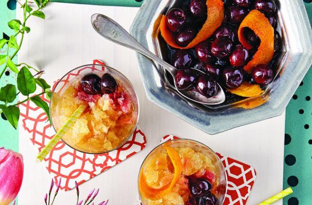 Bourbon Slush with Drunken Cherries