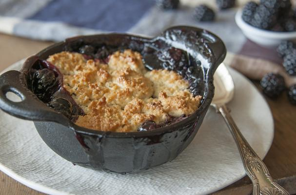 Blackberry Cobbler with Lemon-Rosemary Biscuit Topping