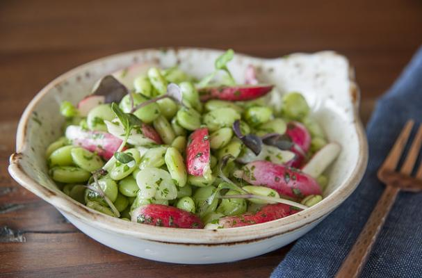 Butterbean and Radish Salad
