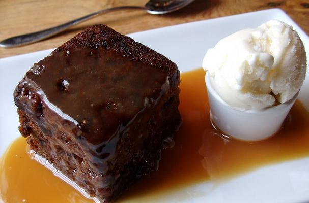 Warm Date Pudding Cake With Toffee Pecan Sauce  Cal