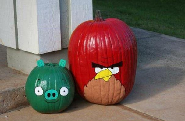 Angry Birds Halloween Pumpkins