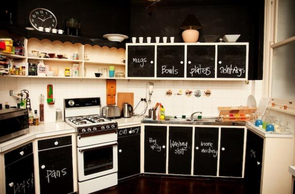 chalkboard kitchen cabinets
