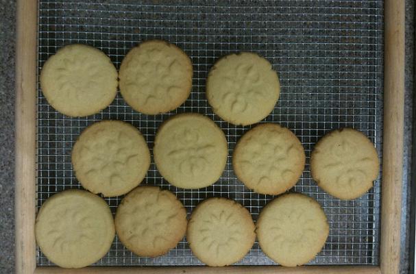 stamped shortbread sugar cookies