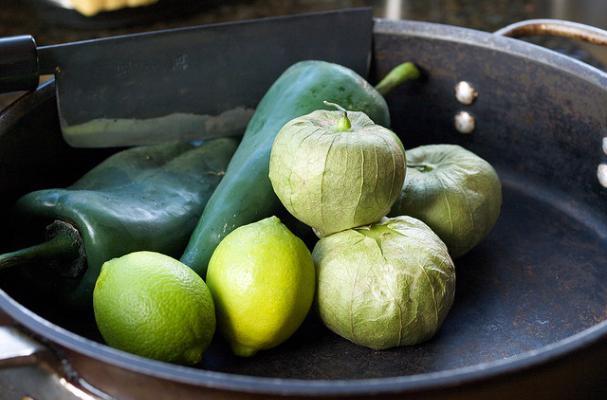 poblano tomatillo & lime for chiles rellenos