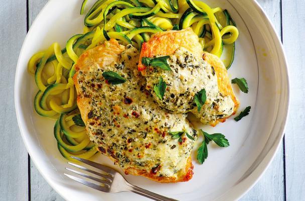 Foodista | Easy Instant Pot Keto Recipe: Pesto Chicken ...