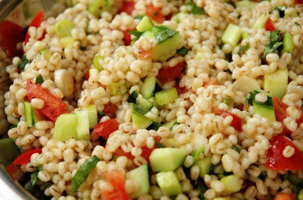 Foodista | Portable Eggplant Barley Salad