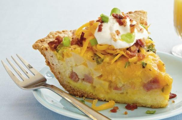 Loaded Potato and Cheddar Quiche