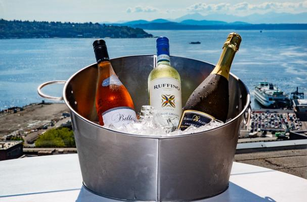 Wine bucket at Seattle's Smith Tower