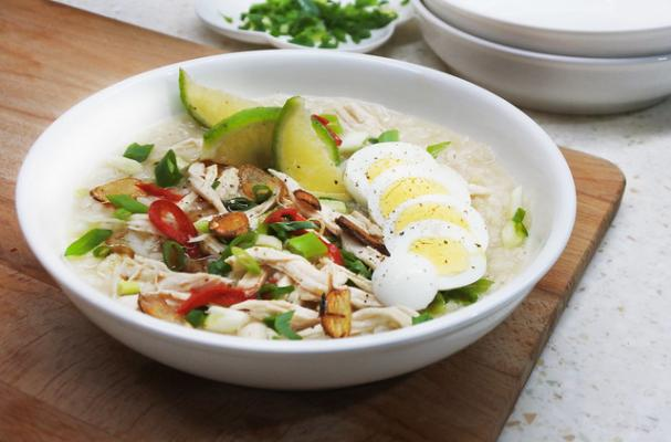 arroz caldo recipe, filipino chicken rice soup