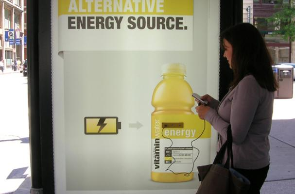 Vitaminwater Bus Stop Charging Stations