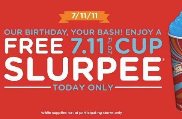 free slurpees at 7-eleven