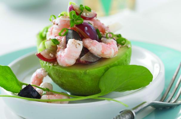 Shrimp and Grape-stuffed Avocados