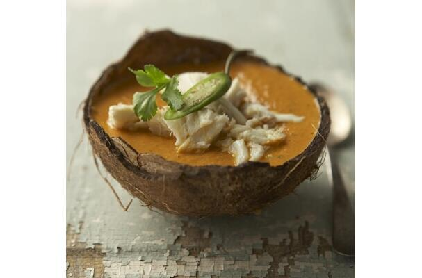 cold curried crab soup