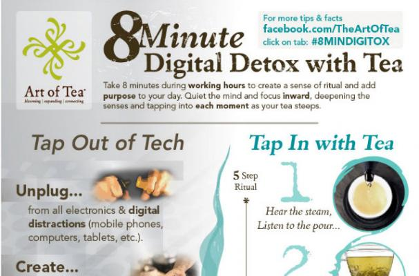 Infographic: An 8-Minute Digital Detox With Tea
