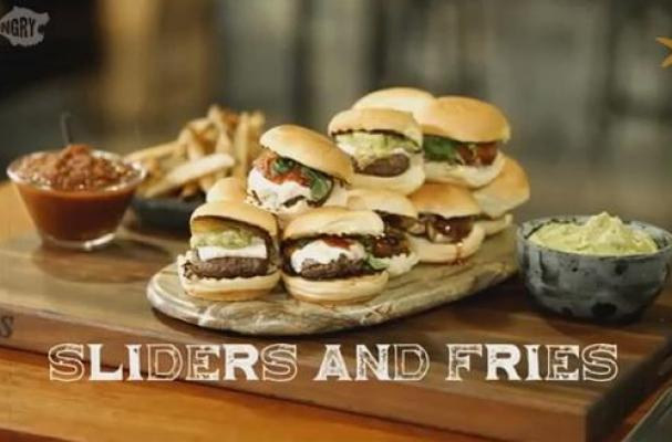 International Sliders with French Fries