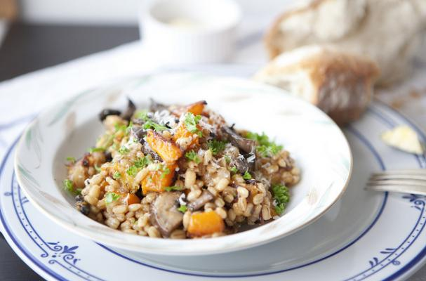Barley Risotto with Winter Squash & Mushrooms
