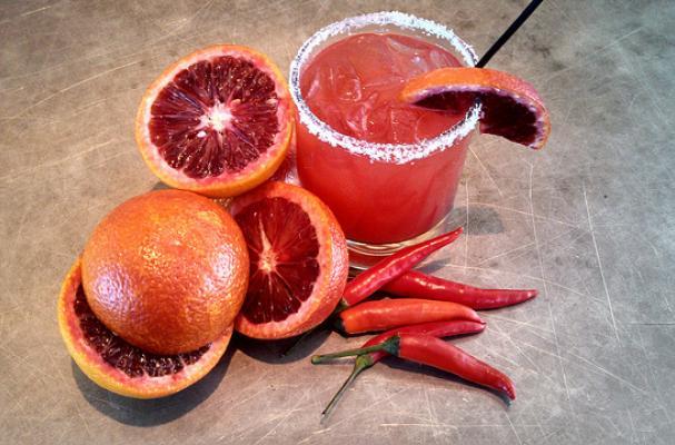 Jalapeño Blood Orange Margaritas