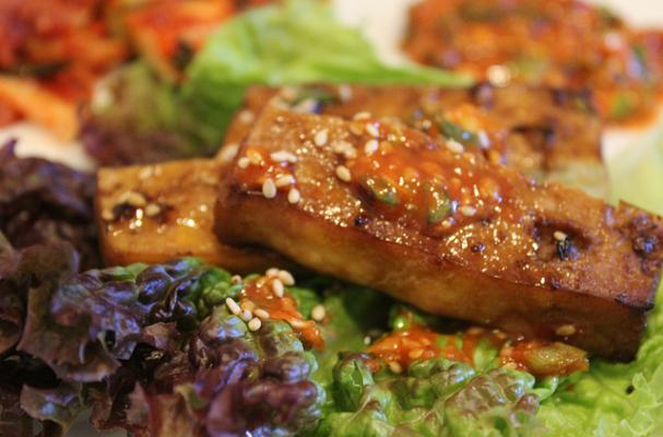 Foodista Korean Bbq Style Tofu With Ssamjang Sauce