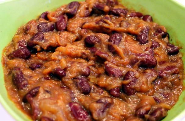 Smoky Vegan Baked Beans with Caramelized Onions