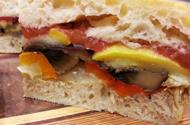 Italian Vegetable Pressed Sandwich
