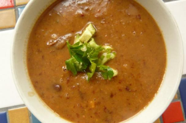 Go Veggie: Bean Soup with Avocado