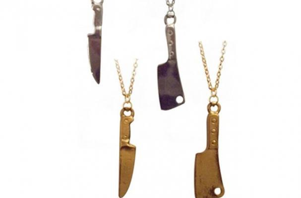 butcher and chef's knife necklace
