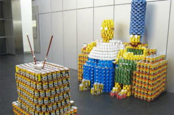 Canned Food Simpsons Sculpture