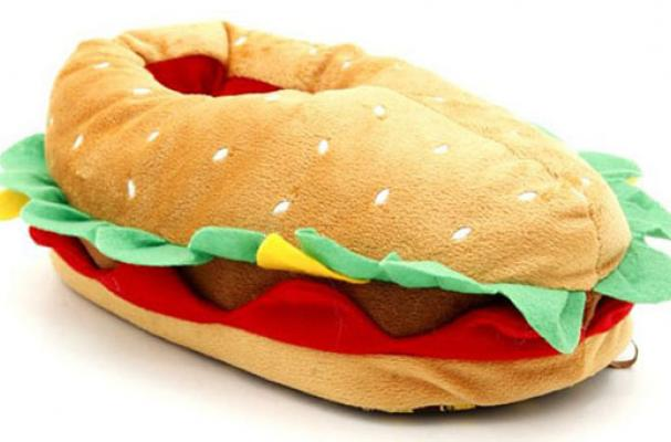 Cheeseburger Slippers