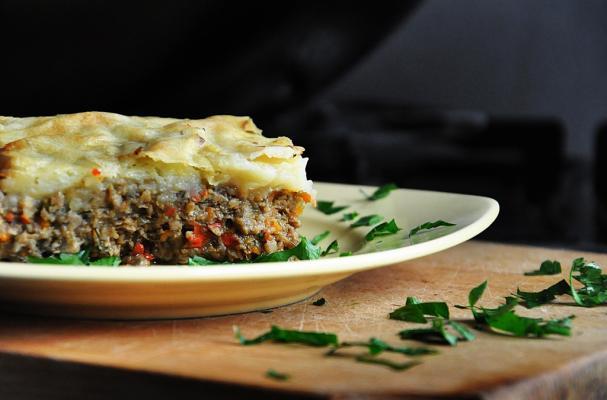 vegetarian mushroom shepherds pie