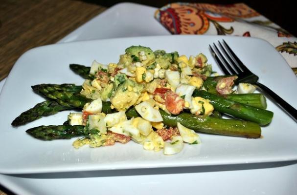 Foodista | Roasted Asparagus with Egg Salad