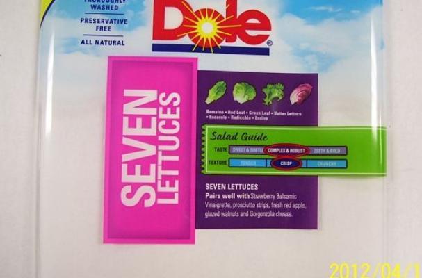 Dole Seven lettuce salad