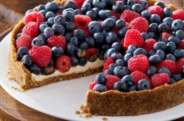 Foodista | Red, White and Blue Berry Torte for the Fourth of July