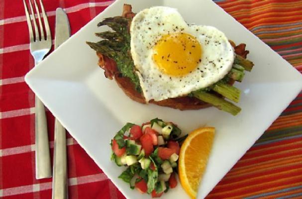 ... this open faced egg sandwich with bacon asparagus and pesto sourdough