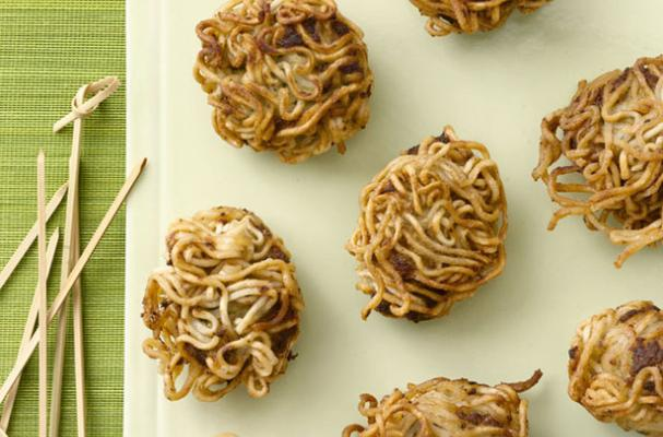 Ramen-Wrapped Porcupine Meatballs