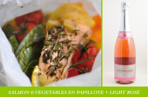 salmon and rose champagne