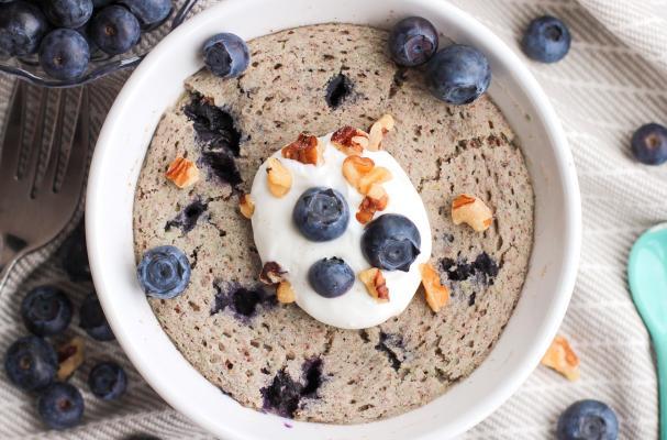 Blueberry Muffin Microwave Mug Cake