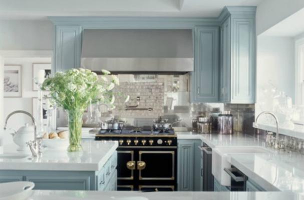 Kitchens With Dark Grey Floors And Light Cabinets