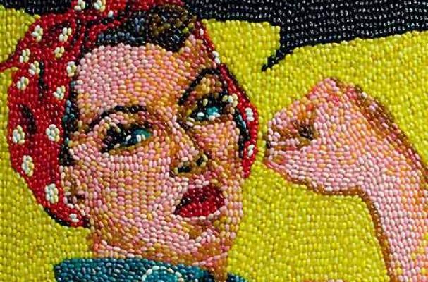 Kristen Cumings Jellybean Paintings