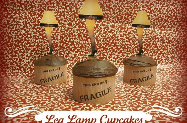 Leg Lamp Cupcakes
