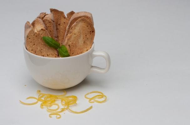 Gluten free dairy free Lemon Basil Biscotti