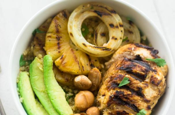 Foodista | Grilled Mojito Chicken Bowls with Quinoa