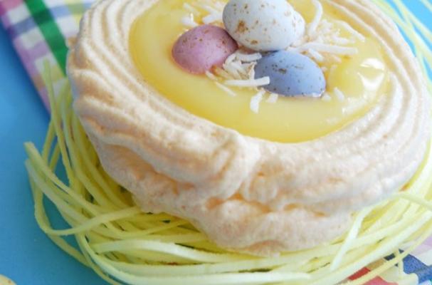 Foodista Lemon Meringue Nests For Easter