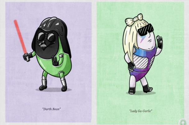 Pop Culture Icons as Produce
