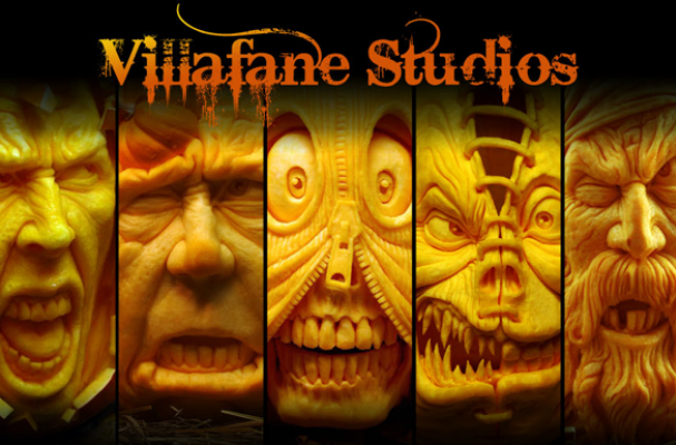 Pumpkin Sculptures by Roy Villafane