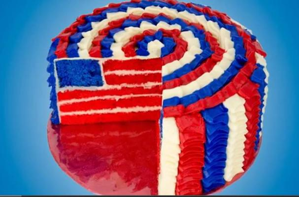 Astonishing Foodista How To Make A 4Th Of July Flag Cake Funny Birthday Cards Online Necthendildamsfinfo