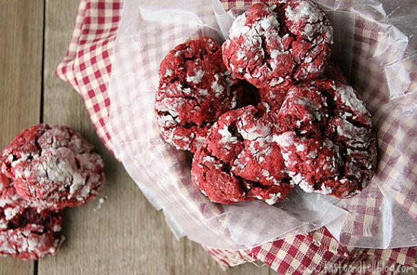 Red Velvet Gooey Butter Cake Cookies