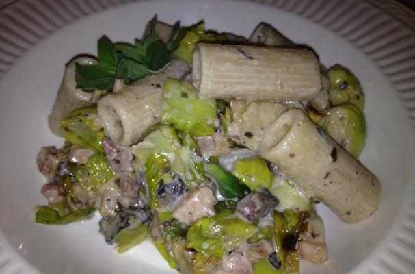 Rigatoni with Brussels Sprouts and Pancetta