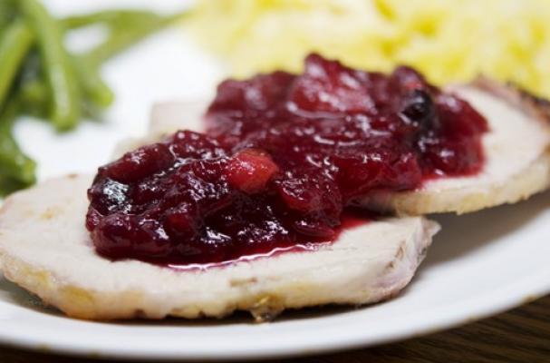 Foodista   Date Night: Pork Loin with Cranberry Wine Sauce